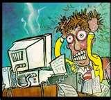 Man computer frustration