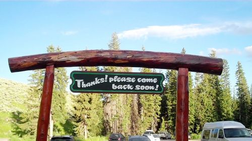 Lone Mt goodbye sign