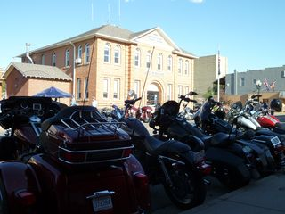 Bikers in Red Lodge - court house