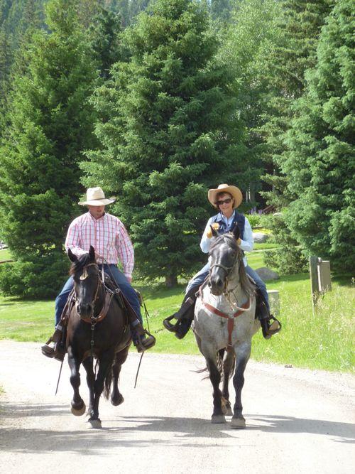 Lone Mt Deb horseback